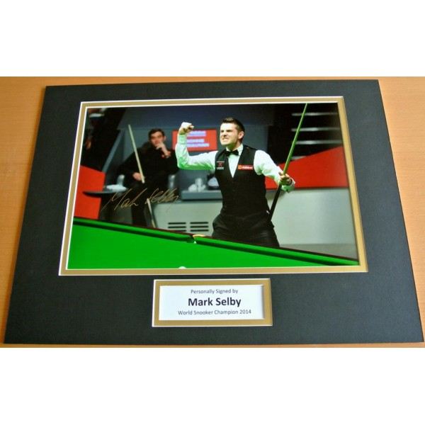 MARK SELBY HAND SIGNED AUTOGRAPH 16x12 PHOTO MOUNT DISPLAY SNOOKER CHAMPION COA PERFECT GIFT