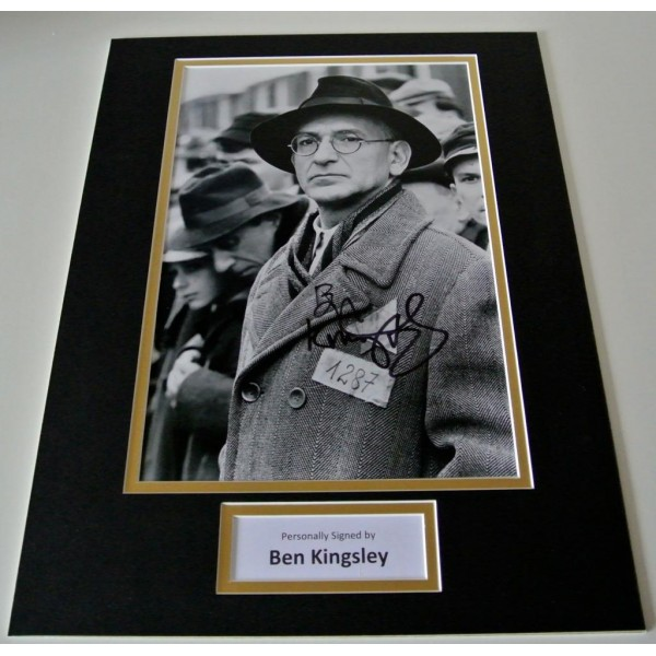 Ben Kingsley SIGNED autograph 16x12 photo mount display Schindlers List Film  AFTAL & COA Memorabilia PERFECT GIFT