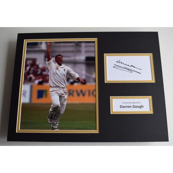 Darren Gough SIGNED autograph 16x12 photo display England Cricket   AFTAL & COA Memorabilia PERFECT GIFT