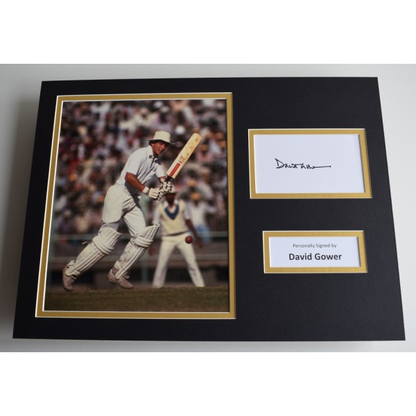 David Gower SIGNED autograph 16x12 photo display England Cricket AFTAL & COA Memorabilia PERFECT GIFT