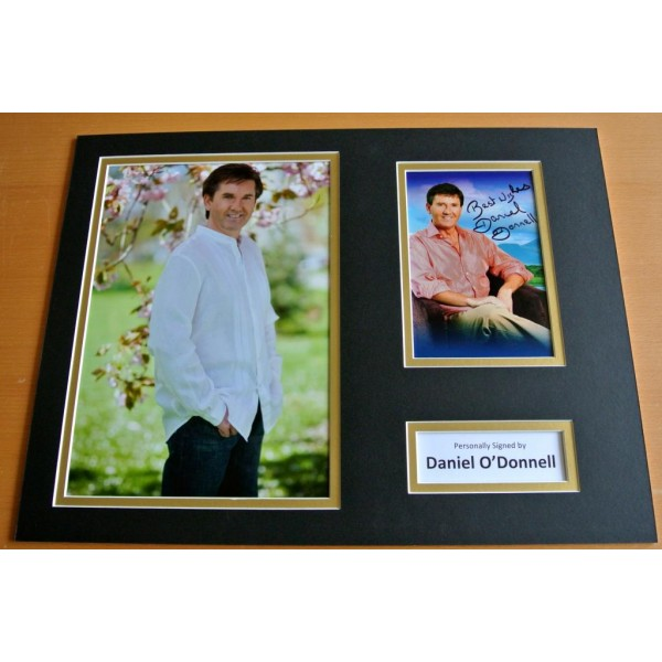 DANIEL O'DONNELL HAND SIGNED AUTOGRAPH 16x12 PHOTO DISPLAY SINGER & COA PERFECT GIFT