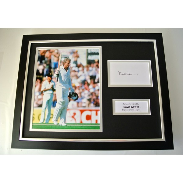 David Gower SIGNED FRAMED Photo Autograph 16x12 display England Cricket & COA PERFECT GIFT