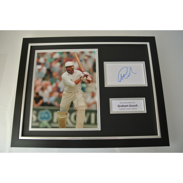 Graham Gooch SIGNED FRAMED Photo Autograph 16x12 display England Cricket & COA PERFECT GIFT