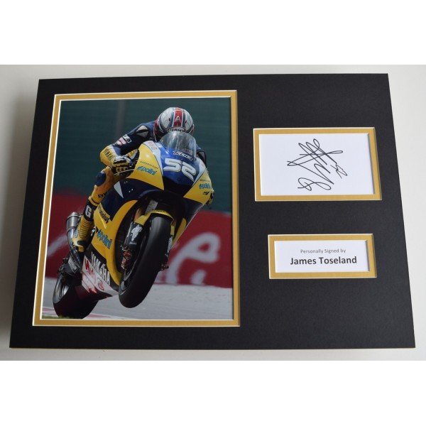 James Toseland SIGNED autograph 16x12 photo display Superbikes  AFTAL & COA Memorabilia PERFECT GIFT
