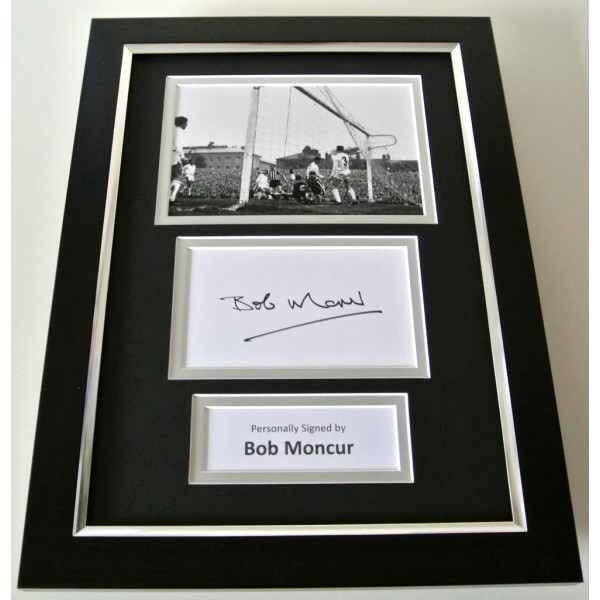 Bob Moncur SIGNED A4 FRAMED Photo Autograph Display Newcastle United & COA PERFECT GIFT