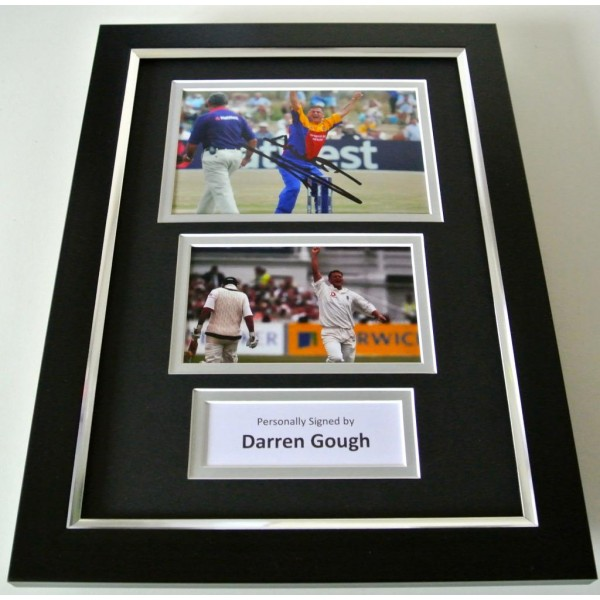 Darren Gough SIGNED A4 FRAMED Photo Autograph Display England Cricket & COA PERFECT GIFT