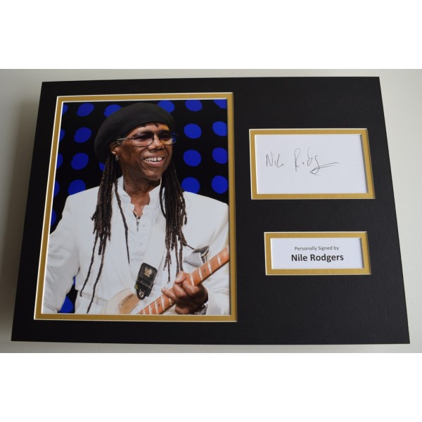 Nile Rodgers SIGNED autograph 16x12 photo display Chic Le Freak AFTAL & COA Memorabilia PERFECT GIFT