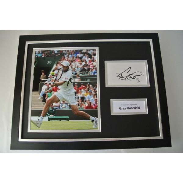 Greg Rusedski SIGNED FRAMED Photo Autograph 16x12 display Tennis memorabilia COA PERFECT GIFT