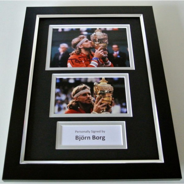 Bjorn Borg SIGNED A4 FRAMED Photo Autograph Display Tennis Memorabilia & COA PERFECT GIFT