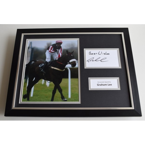 Graham Lee SIGNED FRAMED Photo Autograph 16x12 display Horse racing AFTAL & COA Memorabilia PERFECT GIFT