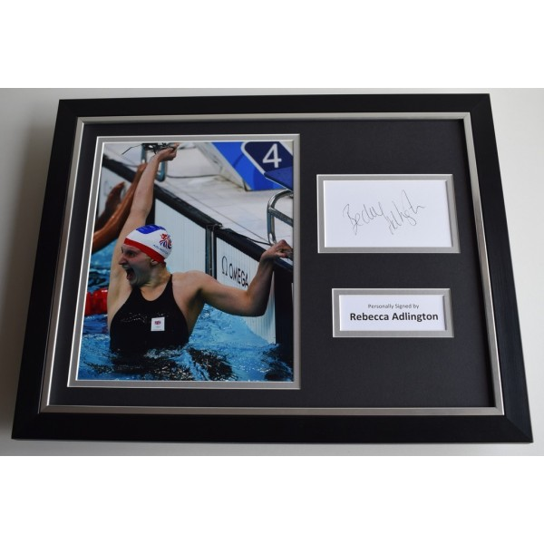 Rebecca Adlington SIGNED FRAMED Photo Autograph 16x12 display Olympics AFTAL & COA Memorabilia PERFECT GIFT