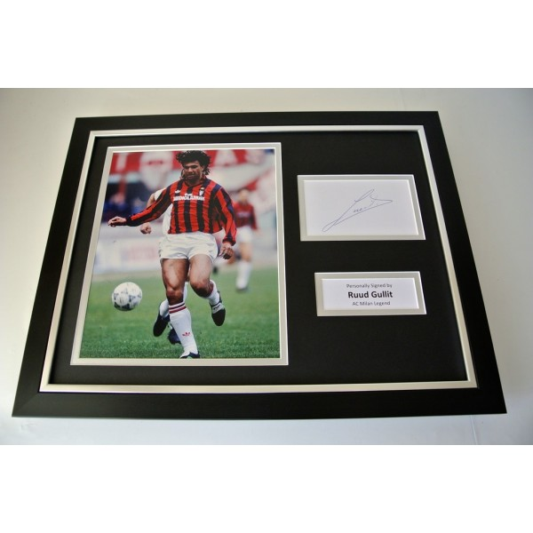 Ruud Gullit SIGNED FRAMED Photo Autograph 16x12 display AC Milan PROOF & COA PERFECT GIFT