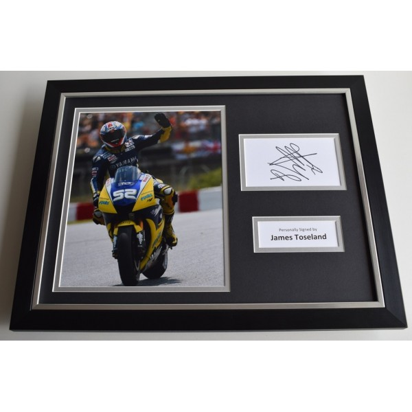 James Toseland SIGNED FRAMED Photo Autograph 16x12 display Superbikes   AFTAL & COA Memorabilia PERFECT GIFT