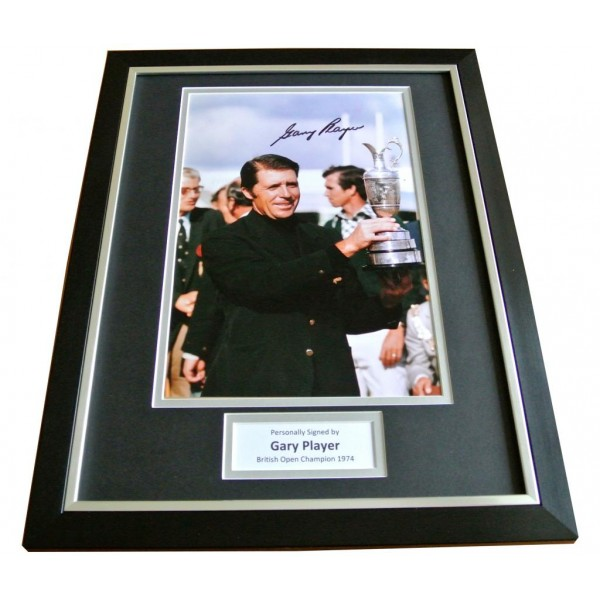 GARY PLAYER HAND SIGNED & FRAMED AUTOGRAPH PHOTO DISPLAY GOLF OPEN GIFT & COA         PERFECT GIFT