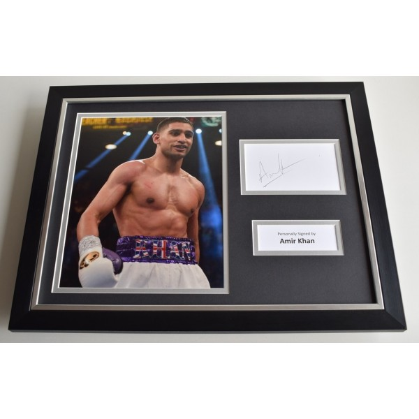 Amir Khan SIGNED FRAMED Photo Autograph 16x12 display Boxing   AFTAL & COA Memorabilia PERFECT GIFT