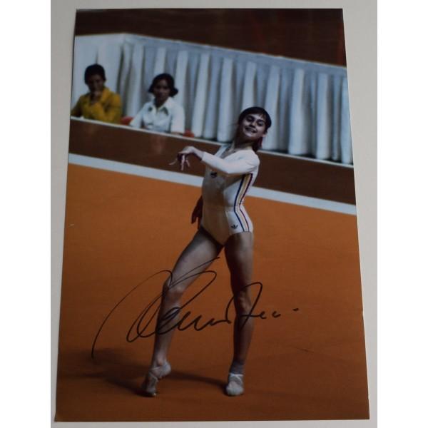Nadia Comaneci SIGNED 12x8 Photo Autograph Olympic Gymnastics AFTAL  COA Memorabilia PERFECT GIFT