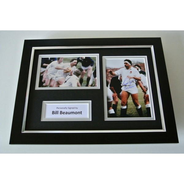 Bill Beaumont SIGNED A4 FRAMED Photo Autograph Display England Rugby Union COA PERFECT GIFT