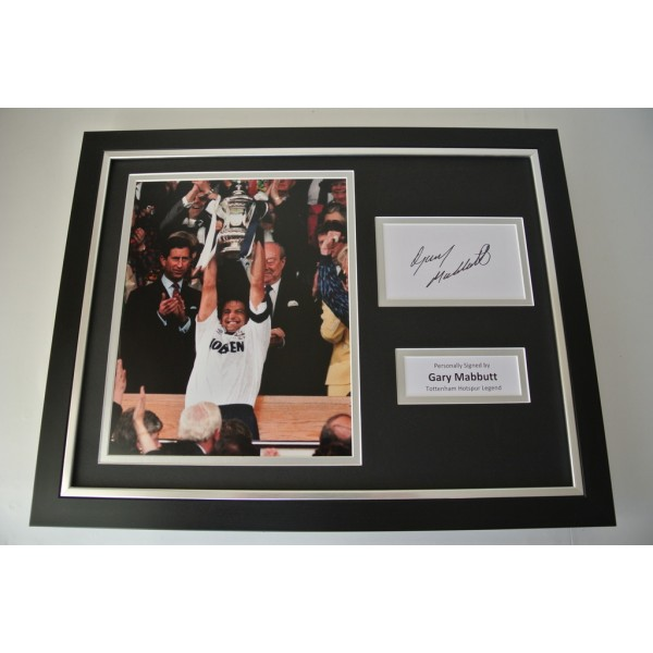Gary Mabbutt SIGNED FRAMED Photo Autograph 16x12 display Tottenham Hotspur PROOF PERFECT GIFT