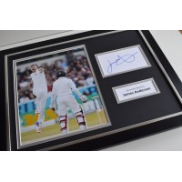 James Anderson SIGNED FRAMED Photo Autograph 16x12 display Cricket   AFTAL & COA Memorabilia PERFECT GIFT