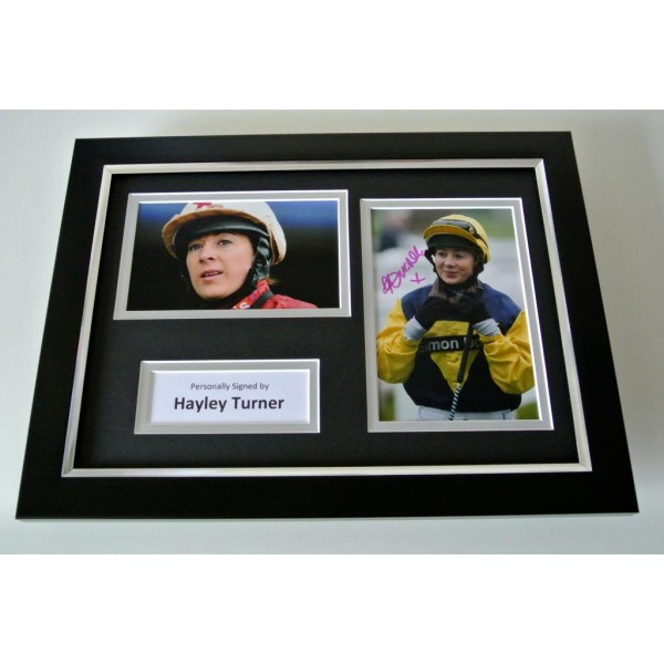 Hayley Turner SIGNED A4 FRAMED Photo Autograph Display Horse Racing Jockey & COA PERFECT GIFT
