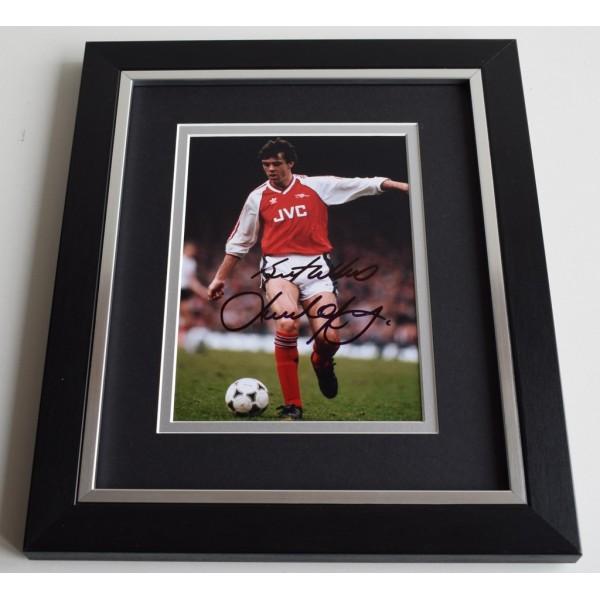 David O'Leary SIGNED 10X8 FRAMED Photo Autograph Arsenal Football AFTAL & COA Memorabilia PERFECT GIFT