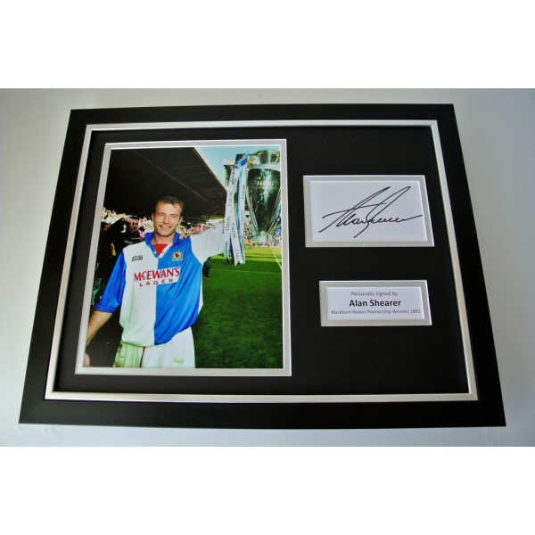 Alan Shearer SIGNED FRAMED Photo Autograph 16x12 display Blackburn Rovers & COA      PERFECT GIFT