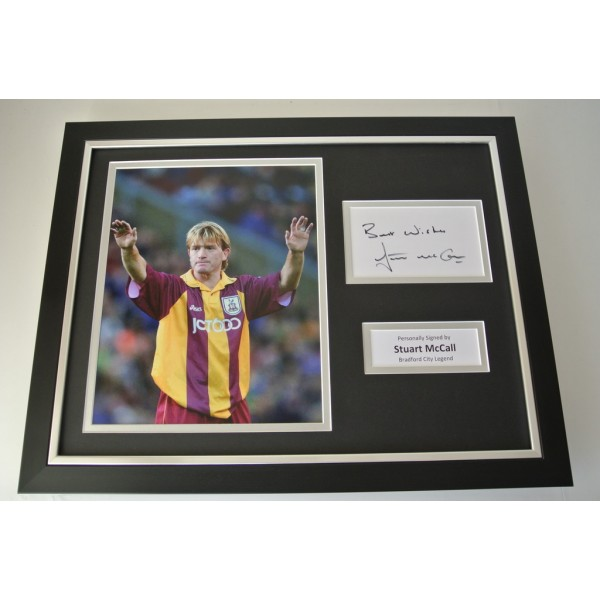 Stuart McCall SIGNED FRAMED Photo Autograph 16x12 display Bradford City & COA   PERFECT GIFT