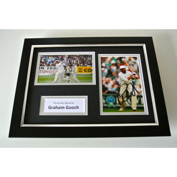 Graham Gooch SIGNED A4 FRAMED Photo Mount Autograph Display England Cricket COA PERFECT GIFT