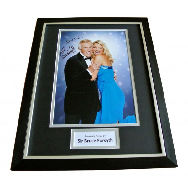SIR BRUCE FORSYTH HAND SIGNED & FRAMED AUTOGRAPH PHOTO DISPLAY STRICTLY GIFT COA       PERFECT GIFT