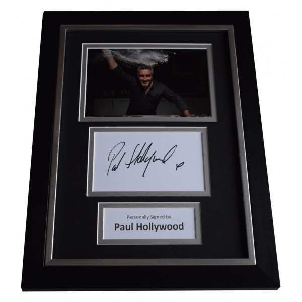 Paul Hollywood Signed A4 FRAMED photo Autograph display Bake Off TV  AFTAL  COA Memorabilia PERFECT GIFT