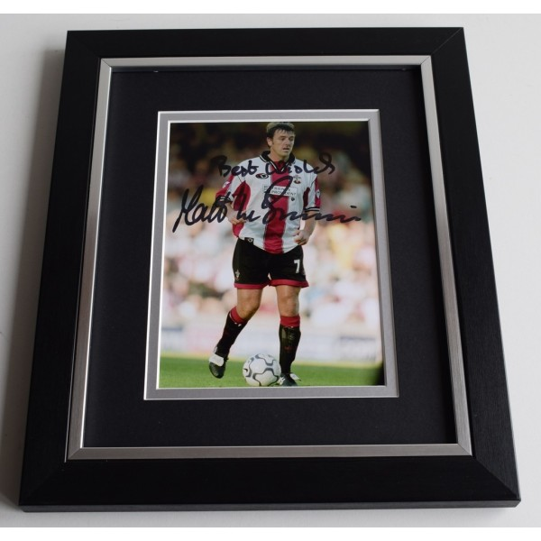 Matt Le Tissier SIGNED 10X8 FRAMED Photo Autograph Southampton  AFTAL & COA Memorabilia PERFECT GIFT