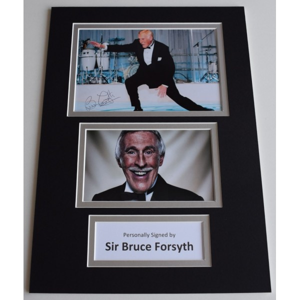 Bruce Forsyth Signed Autograph A4 photo display Strictly Dancing TV  AFTAL  COA Memorabilia PERFECT GIFT