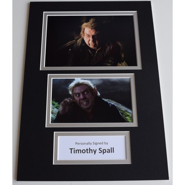 Timothy Spall Signed Autograph A4 photo display Harry Potter Film AFTAL  COA Memorabilia PERFECT GIFT