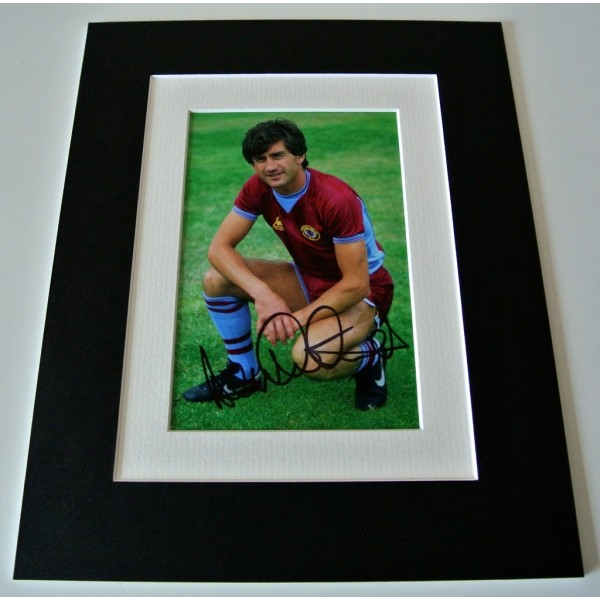 Dennis Mortimer Signed Autograph 10x8 photo mount display Aston Villa PROOF COA     PERFECT GIFT
