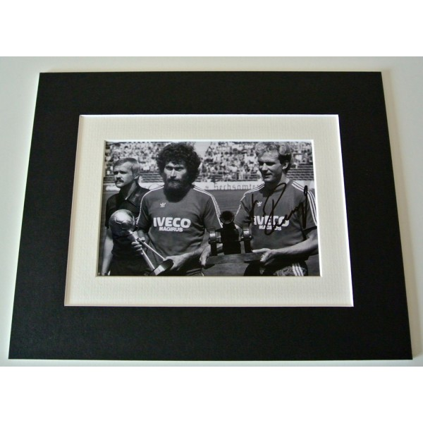 Karl Heinz Rummenigge Signed Autograph 10x8 photo display Bayern Munich & COA                PERFECT GIFT