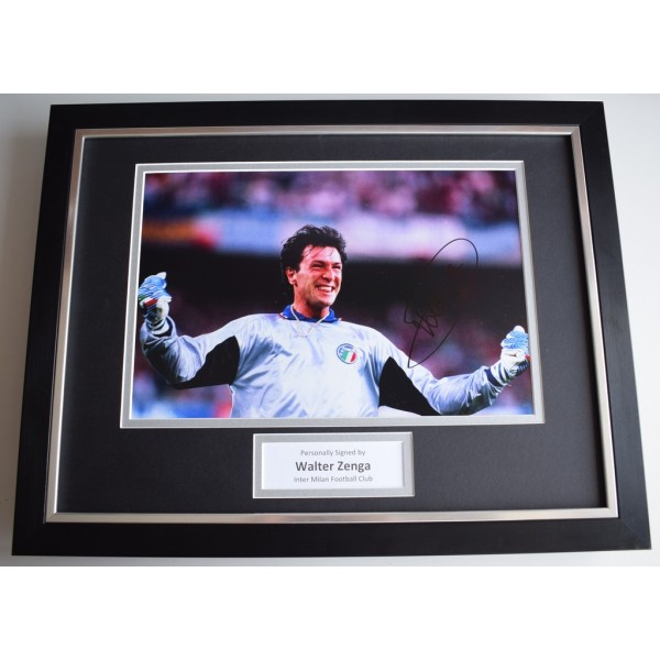 Walter Zenga SIGNED FRAMED Photo Autograph 16x12 display Inter Milan  AFTAL  COA Memorabilia PERFECT GIFT