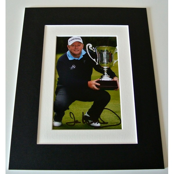 Ian Woosnam Signed Autograph 10x8 photo mount display Golf Sport Memorabilia COA    PERFECT GIFT