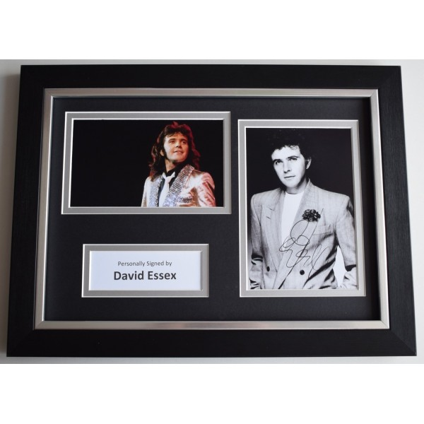 David Essex Signed A4 FRAMED photo Autograph display Music AFTAL  COA Memorabilia PERFECT GIFT