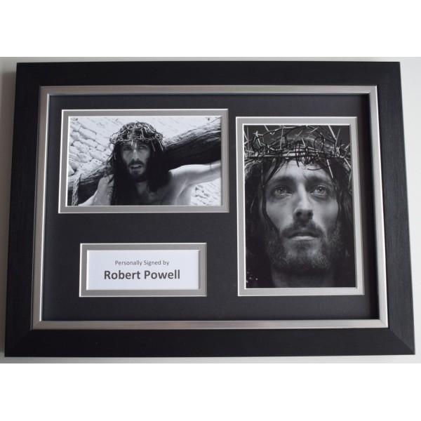 Robert Powell Signed A4 FRAMED photo Autograph display Jesus of Nazareth TV AFTAL  COA Memorabilia PERFECT GIFT