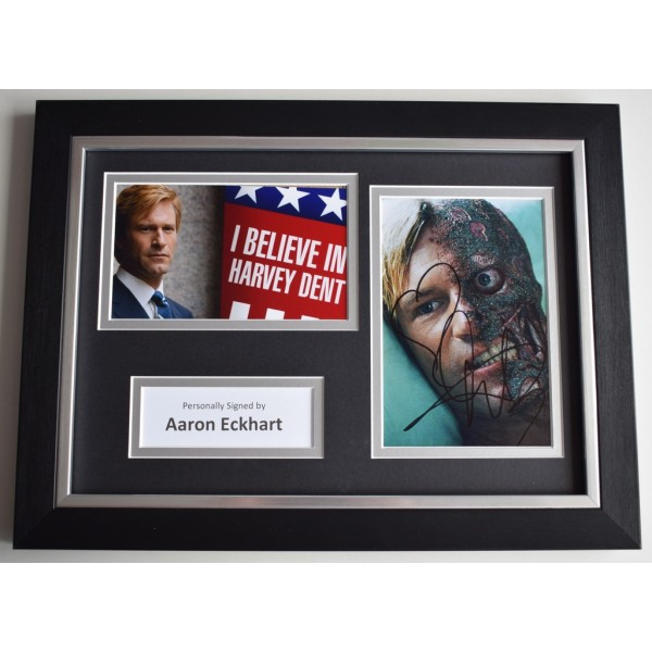 Aaron Eckhart Signed A4 FRAMED photo Autograph display Dark Knight Batman AFTAL  COA Memorabilia PERFECT GIFT