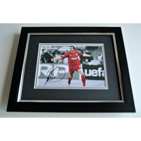 Vladimir Smicer SIGNED 10X8 FRAMED Photo Autograph Display Liverpool & COA PERFECT GIFT