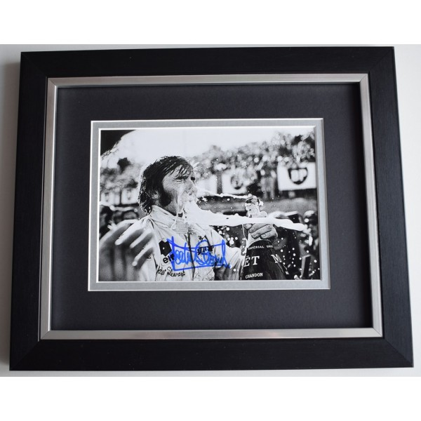 Jackie Stewart SIGNED 10x8 FRAMED Photo Autograph Display Formula 1 AFTAL  COA Memorabilia PERFECT GIFT