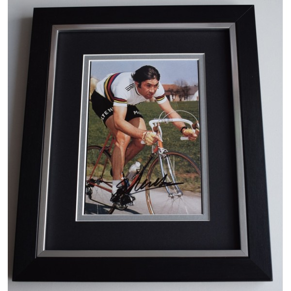 Eddy Merckx SIGNED 10x8 FRAMED Photo Autograph Display Cycling Sport  AFTAL  COA Memorabilia PERFECT GIFT