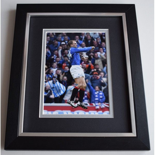 Ronald de Boer SIGNED 10x8 FRAMED Photo Autograph Display Glasgow Rangers AFTAL  COA Memorabilia PERFECT GIFT