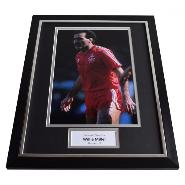 Willie Miller SIGNED FRAMED Photo Autograph 16x12 display Aberdeen    AFTAL & COA Memorabilia PERFECT GIFT