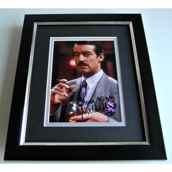 John Challis SIGNED 10X8 FRAMED Photo Autograph Display Only Fools & Horses COA PERFECT GIFT