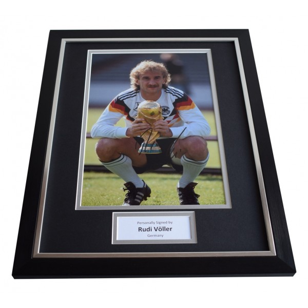 Rudi Voller SIGNED FRAMED Photo Autograph 16x12 display Germany  AFTAL & COA Memorabilia PERFECT GIFT