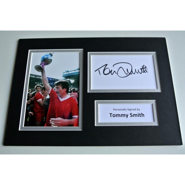 Tommy Smith SIGNED autograph A4 Photo Mount Display Liverpool Football  AFTAL & COA Memorabilia PERFECT GIFT
