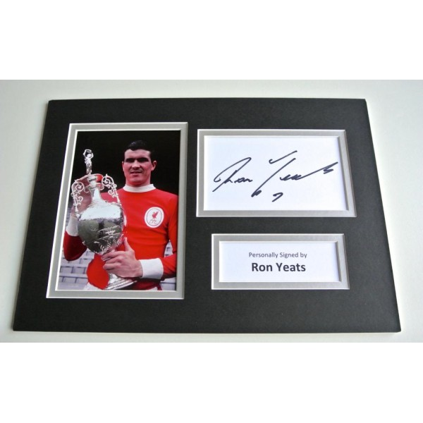 Ron Yeats SIGNED autograph A4 Photo Mount Display Liverpool LFC Football  AFTAL  COA Memorabilia PERFECT GIFT