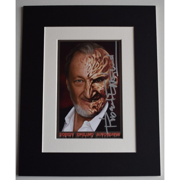 Robert Englund Signed Autograph 10x8 photo display Nightmare On Elm Street   AFTAL  COA Memorabilia PERFECT GIFT